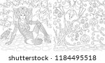 coloring pages. coloring book... | Shutterstock .eps vector #1184495518