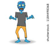 scary zombie  halloween party.... | Shutterstock .eps vector #1184498368