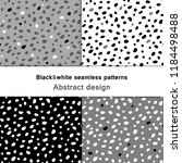 black and white spot dots. ... | Shutterstock .eps vector #1184498488