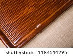 solid wood ebony tea tray set | Shutterstock . vector #1184514295