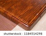 solid wood ebony tea tray set | Shutterstock . vector #1184514298
