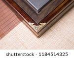 solid wood ebony tea tray set | Shutterstock . vector #1184514325