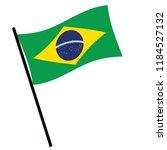 brazil vector flag template.... | Shutterstock .eps vector #1184527132