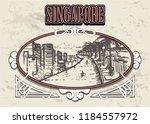 singapore skyline in a... | Shutterstock .eps vector #1184557972