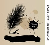 Feather Pen Vector Drawing ...