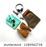 men's casual outfits for man... | Shutterstock . vector #1184562718