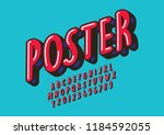 vector of stylized modern font... | Shutterstock .eps vector #1184592055