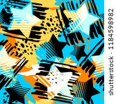stars seamless print textile... | Shutterstock .eps vector #1184598982