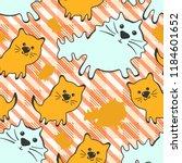 doode cute seamless pattern... | Shutterstock .eps vector #1184601652
