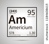 americium chemical element with ... | Shutterstock .eps vector #1184608615