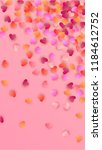 pink hearts falling on pink... | Shutterstock .eps vector #1184612752