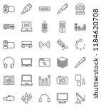 thin line vector icon set   pen ... | Shutterstock .eps vector #1184620708