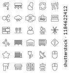 thin line vector icon set  ... | Shutterstock .eps vector #1184622412