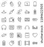 thin line vector icon set  ...   Shutterstock .eps vector #1184622505