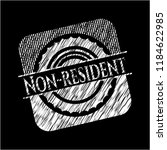 non resident written on a... | Shutterstock .eps vector #1184622985