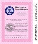pink formal warranty... | Shutterstock .eps vector #1184623192