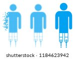 man crutches icon in dissolved  ...   Shutterstock .eps vector #1184623942