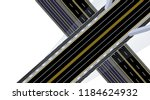 view from above. suspended road ... | Shutterstock . vector #1184624932