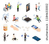 internet smartphone gadget... | Shutterstock .eps vector #1184633002