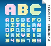 origami alphabet letters and... | Shutterstock .eps vector #118464568
