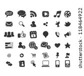 hand drawn social media icon set | Shutterstock .eps vector #118464922