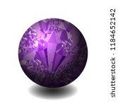 Amethyst. Ball Of Stone....