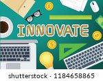 innovate vector concept design | Shutterstock .eps vector #1184658865