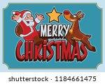 christmas banner comic | Shutterstock .eps vector #1184661475