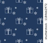 seamless pattern with gift... | Shutterstock .eps vector #1184662972