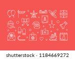 merry christmas horizontal...   Shutterstock .eps vector #1184669272