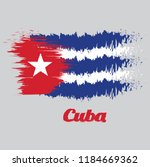brush style color flag of cuba  ... | Shutterstock .eps vector #1184669362