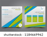 square flyer design. a cover... | Shutterstock .eps vector #1184669962