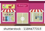 boutique  boutique building.... | Shutterstock .eps vector #1184677315
