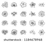 flowers set. collection of... | Shutterstock . vector #1184678968