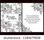 vintage delicate greeting... | Shutterstock . vector #1184679838