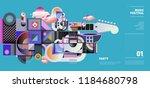 music festival illustration... | Shutterstock .eps vector #1184680798