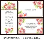 romantic wedding invitation...   Shutterstock .eps vector #1184681362