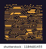 high tech circuit processor... | Shutterstock .eps vector #1184681455