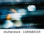 silver abstract bokeh... | Shutterstock . vector #1184683135