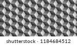 dark black geometric grid... | Shutterstock . vector #1184684512