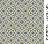 ethnic colorful doodle texture... | Shutterstock .eps vector #1184687398