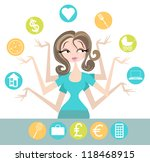woman juggling all the... | Shutterstock .eps vector #118468915