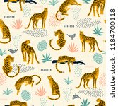 vestor seamless pattern with... | Shutterstock .eps vector #1184700118