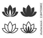 Stock vector lotus icon set on white background vector 1184703802