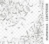 silvery shine of confetti.... | Shutterstock .eps vector #1184705038