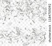 silvery shine of confetti.... | Shutterstock .eps vector #1184705092