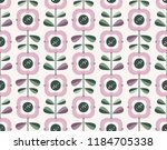 seamless retro pattern with... | Shutterstock .eps vector #1184705338