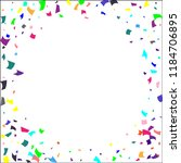confetti. colorful confetti on... | Shutterstock .eps vector #1184706895