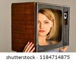 journalism. journalism on...   Shutterstock . vector #1184714875