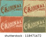 vector set vintage labels | Shutterstock .eps vector #118471672